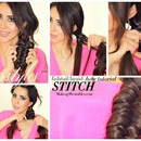 "New Cool Hairstyles | How to ""Stitch"" Fishtail Braid Tutorial Video"