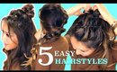 5 ★ LAZY Easy HAIRSTYLES for GIRLS Who's BAD AT HAIR ★ MakeupWearables Braids