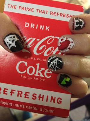 Easy simple Halloween nails