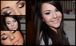 Using crushed metallic pigments by MAC and Creme Cup l/s