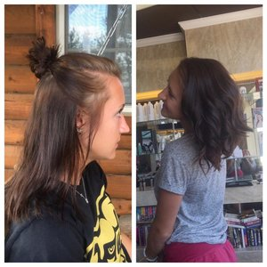 Haircut and style by Christy Farabaugh