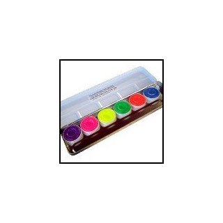 Kryolan Neon Aquacolor Palette  Day-Glow Eyeshadow