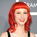 Hayley Williams of Paramour at the 2011 Grammys (Source: JustJared)