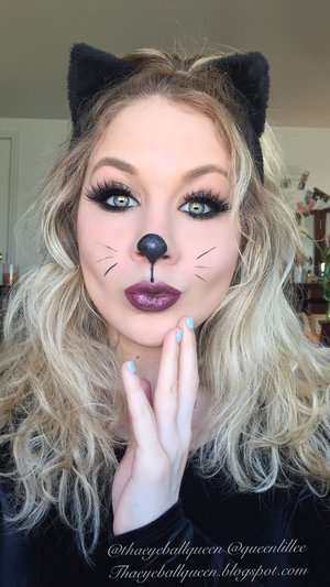 Hey guys:)  Today is Halloween and I decided to end my Halloween series with a classic staple!  Full details can be found on my blog! http://theyeballqueen.blogspot.com/2015/10/kitten-makeup-tutorial-for-halloween.html