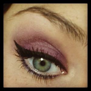 Purple shadow with my favorite kind of eyeliner :)