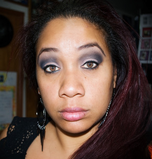 combination of products for a neutral but smokey look
