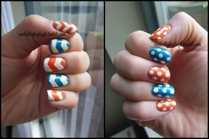 revisiting the chevron look, with dots on the other hand