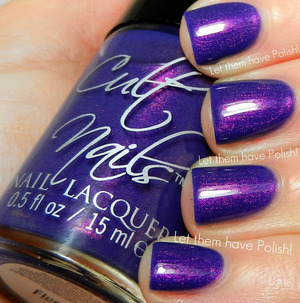 A color shifting Amethyst Violet with a fine copper microshimmer that shifts to Pink and Purple. AMAZING shade! Total must have!  Behind Closed Doors Collection