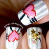 Cute Hearts and Stars Nail Art ☆