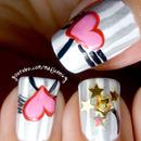 Cute Hearts and Stars Nail Art ☆