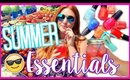 SUMMER ESSENTIALS: DRINK, BEAUTY, THINGS TO DO! | CarolaneCP