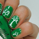 OPI Sandy Hook Green with Stamping