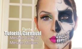 Tutorial Carnaval - Parte 1 - Caveira (Skull Makeup)