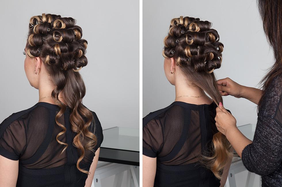 Фото:укладке локонов от корней волос