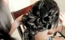 Fancy bun with braided sides [Up-do Tutorial]