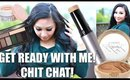 GET READY WITH ME! New Benefits Cosmetics Play Sticks,  MAC Mariah Carey, Smashbox Palette, Korres