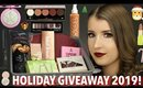 HUGE HOLIDAY GIVEAWAY 2019! MAKEUP, SKINCARE & MORE! (CLOSED)