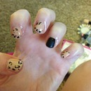 Cheetah Nails With Matte Black.