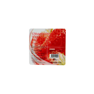 The Face Shop Wash Off Strawberry Yogurt Mask Pack