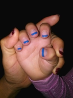 Baby sisters nails, she four