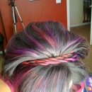 Red and Purple Rope Braid Headband.