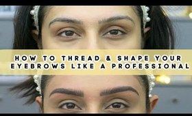 Eyebrow Threading Shaping Hack DIY
