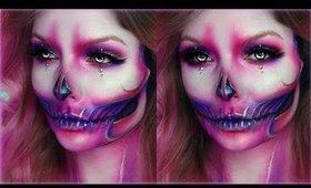 Pink Glam Skull Makeup Tutorial