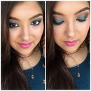 Turquoise eye-makeup for brown eyes