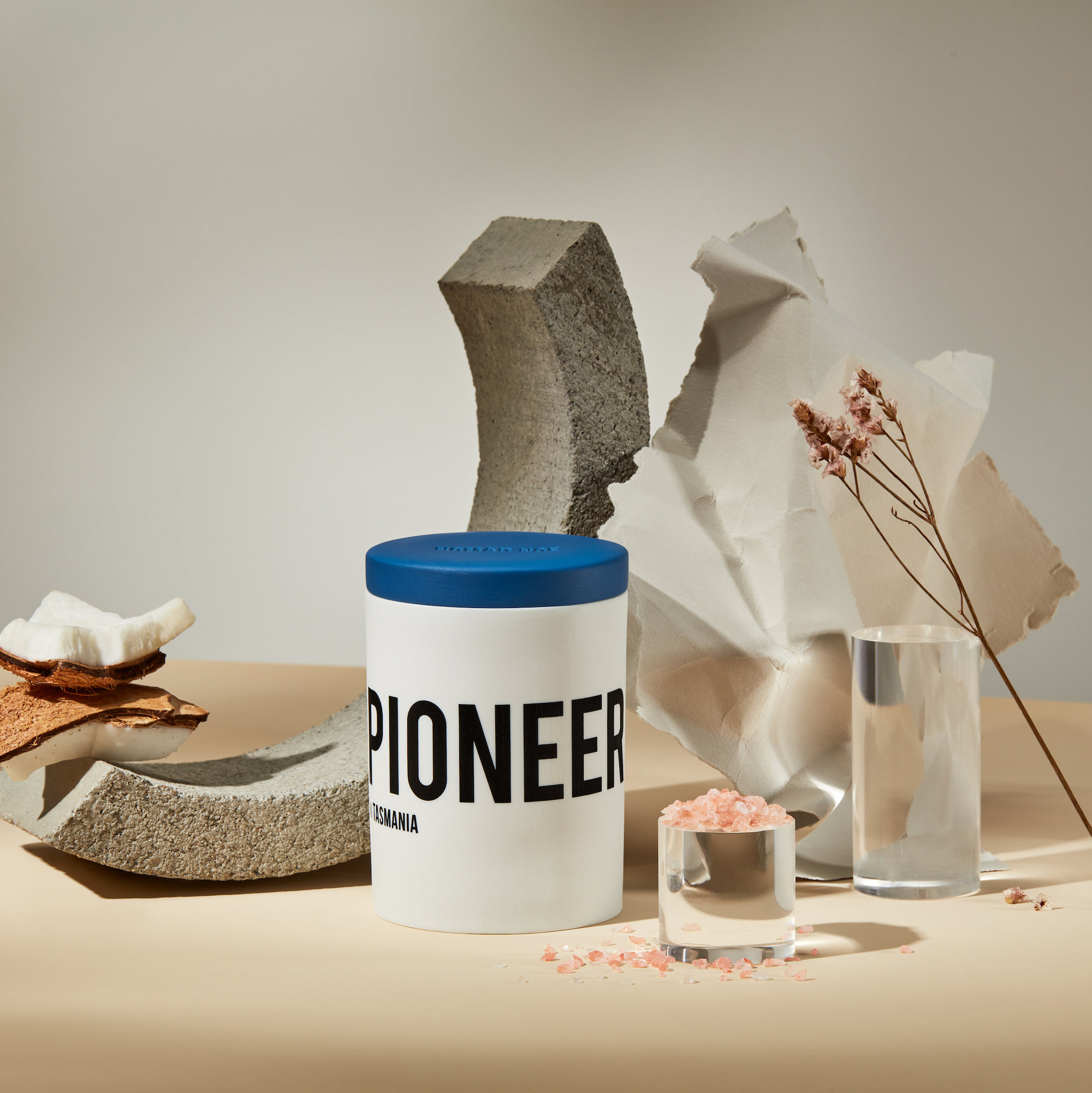 Alternate product image for Pioneer In Tasmania - Sea Salt & Coconut Candle shown with the description.