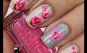 Pretty Rose Nails by The Crafty Ninja