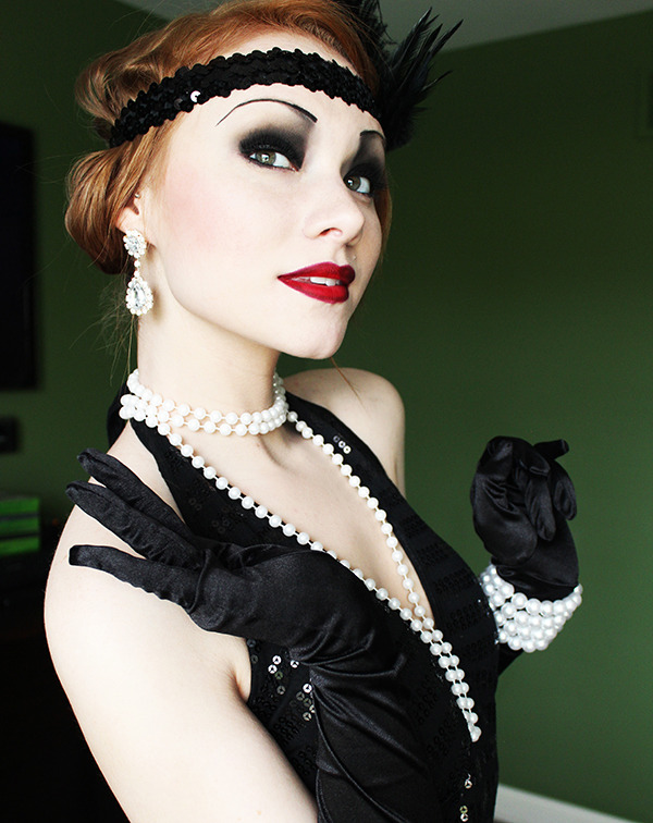 Fantastic Watch More Like Flapper Girl Makeup Ideas Hairstyle Inspiration Daily Dogsangcom