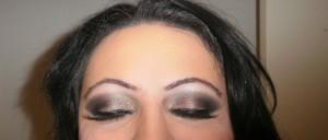 Used: Revlon Black/Gold Glitter Eyeshadow, Lancome eyeshadows, 2Tru Eyeliner in Black, M.A.C Gold Pigment