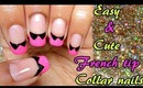 Easy and Cute Collared french tips | Tutorial