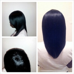 I did a quick on my client....making my own closure