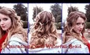 Christmas/Holiday Cascading Waterfall Braid|Half up Half Down Curly Braided Hairstyle