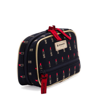 Valiant Rouge Black Secondary Pouch with Tissue Case