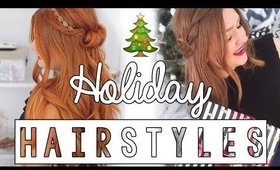 EASY HOLIDAY HAIRSTYLES | CAROLANECP