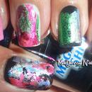 Dazzling Starry Mixed Metals Foil Nail Art