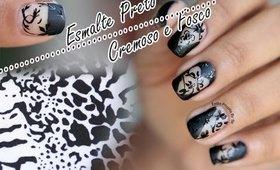 Esmalte Preto Cremoso e Fosco