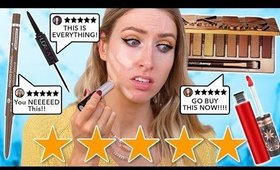 I Tried NEW TOP RATED MAKEUP…. what's ACTUALLY worth buying??