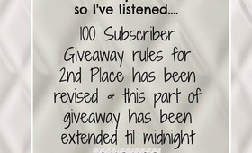 ♥100 Subscriber/ Bday Giveaway Revision-Part 2 to Giveaway- Open ♥