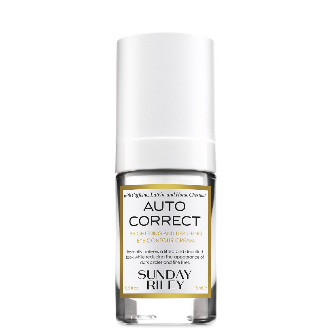 Sunday Riley Auto Correct Brightening And Depuffing Eye Contour Cream alternative view 1 - product swatch.
