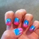 pink,purple,blue