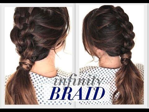 Diy Suspended Infinity Braid Hairstyle Cute Hairstyles