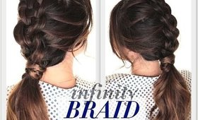 ★DIY SUSPENDED INFINITY BRAID HAIRSTYLE   CUTE HAIRSTYLES