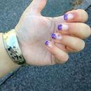 glitter French manicure!