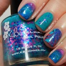 KBShimmer Totally Tubular Inspired Nail Art