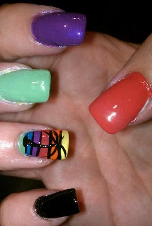 got the idea from another nail design i saw but tweeked it a little