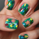 Floral painting-inspired nails