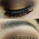 Glamour Dramatic Brown Gold Fall Makeup